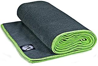Youphoria Hot Yoga Towel, Non Slip, Super Absorbent, Plush Microfiber Yoga Mat Towel for Hot Yoga, Bikram and Yoga Mat Grip, Washable, 24 inches x 72 inches
