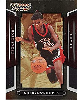 cf7336908bf Sheryl Swoopes basketball card (University of Texas Tech Red Raiders) 2008  Donruss Sports Legends