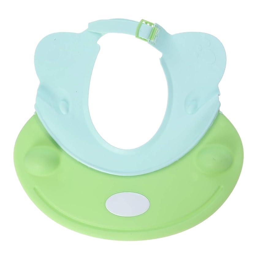 容赦ないおとなしいマウントSUPVOX ベビーシャワーキャップシャンプー入浴保護帽子カバ形ソフトアジャスタブルバイザーキャップ用幼児子供用ベビーキッズ(グリーン)