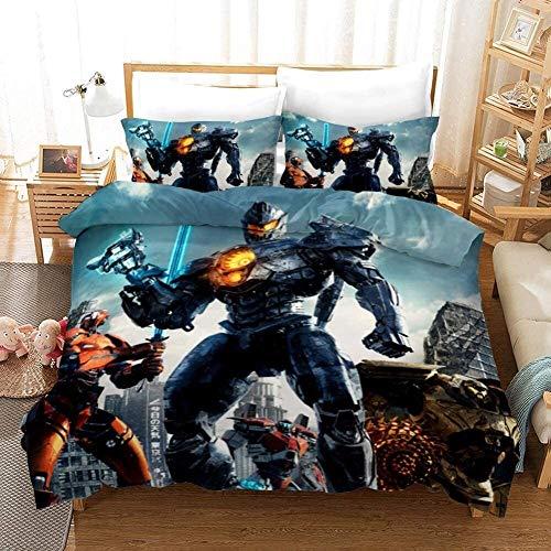 Juego de Sábanas Otaku Ropa de cama; ropa de cama 100% Microfibra Marvel Dibujos animados 3 piezas Hojas de cama Conjunto de ropa de cama - Cubierta de edredón Popularidad Ciencia ficción Tipo de ficc