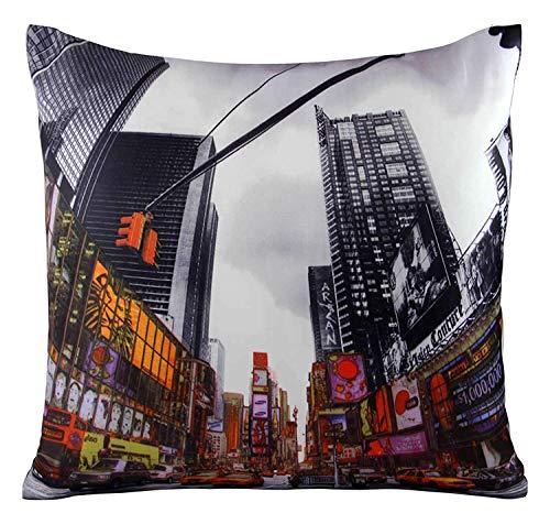 Funky Novel Times Square New York américain rouge noir Housse de coussin 18 \