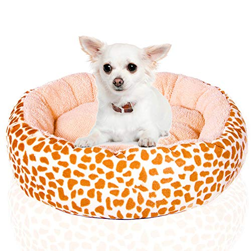 Soft Luxurious And Comfortable Cat Dog Donut Bed With Anti Slip Base Round Or Oval Shape Dimple Fleece Nesting Dog Cave Bed Pet Cat Bed For Cats And Small Dogs