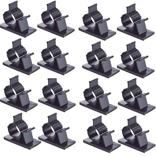 Nuluxi Verstellbare Kabelschellen Einstellbar Kabelschellen Schwarz Einstellbare Kabelclips Einfach zu verwenden Adhesive Verstellbare Kabelclips Universal für die Meisten Größe Drähte (50 Stück)