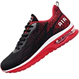 Impdoo Mens Air Athletic Running Sneaker Cute Fitness Sport Gym Jogging Tennis Shoes (BlackRed US 10 B(M)