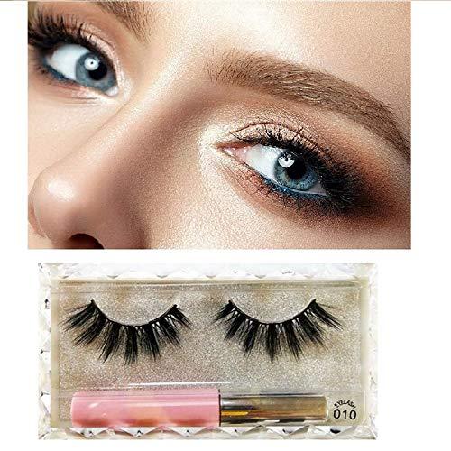 KGIDK Eyeliner magnétique 3D avec des Cils magnétiques, des cosmétiques réutilisables imperméables aux Taches, des Cils magnétiques sans Colle pour Le Maquillage (2PCS)