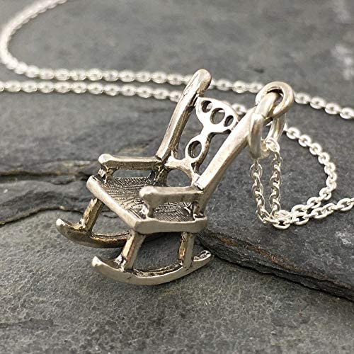 Best Rocking Chair Charm Necklace - 925 Sterling Silver, 18\