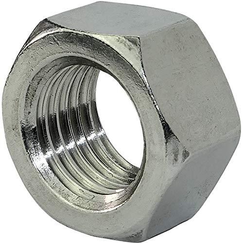 AERZETIX - Juego de 5 - Tuercas hexagonales 6 lados - Piezas Metálicas/Separado/Apriete/Ensamblaje - Acero inoxidable A2 - Rosca M22 Métrica Hembra - Bricolaje - DIN 934 - Color plata - C45781