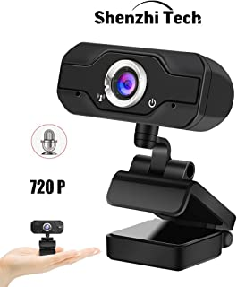 ShenzhiTech 720P 1080P Webcam,HD USB Web Camera Built-in Sound-Absorbing Microphone,High-end Video Call Web Camera for PC ...