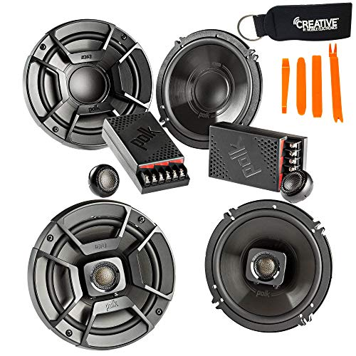"Polk Audio - A Pair of DB6502 6.5"" Components and DB652 6.5"" Coax Speakers - Bundle Includes 2 Pair"