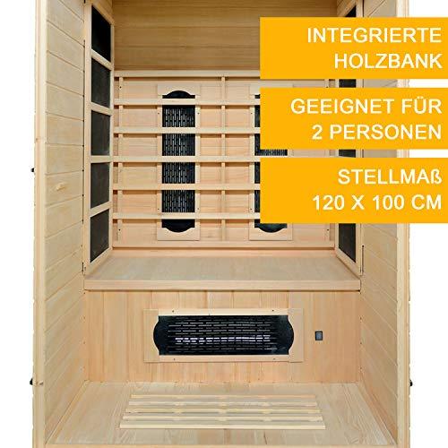 Infrarotkabine Oslo Dual-Heizsystem & Hemlockholz | Infrarotsauna für 1 Person | ArtSauna - 7