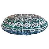 Stylo Culture - Cuscino rotondo indiano indiano per cuscino da pavimento, 80 x 80 cm, moti...