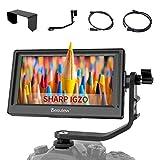 Desview P5 Moniteur Caméra, 5.5' 4K HDMI DSLR Monitor Sharp IGZO LCD 1920 * 1080 Rec. 709 Moniteur Vidéo Externe pour Caméscope DSLR Canon Sony Nikon Panasonic Stabilisateur Gimbal