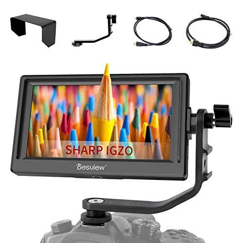 Desview Mavo P5 5.5 Pollici Monitor da Campo, DSLR-Monitor-Esterno-Reflex-4K HDMI 1920*1080, con Schermo LCD IGZO 450nit, Compatibile per Canon Sony Nikon