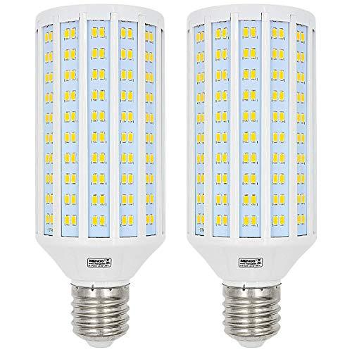 MENGS 2 Stück E40 LED Lampe 50W LED Mais Licht Kaltweiß 6500K LED Glühbirnen Ersatz 400W Halogenlampe 4400LM, Beleuchtung Winkel 360º für Fabriklager Garage Hof, Nicht Dimmbar
