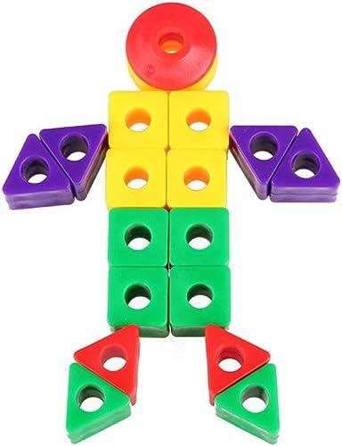 Yzoyhiagt-Building Blocks Enfants 3-12 Ans en Plastique 600 Morceaux de Petits Blocs de Construction perlés Puzzle démontage Jouets for Enfants pour Les Enfants Toddlers for EdutainHommest