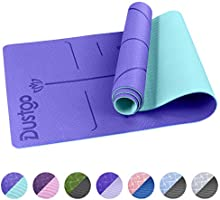 Dustgo Tappetino Yoga da 183cmx63cmx6mm Tappetino Palestra Fitness 100% Ecologico TPE Double-Sided Antiscivolo Yoga Mats