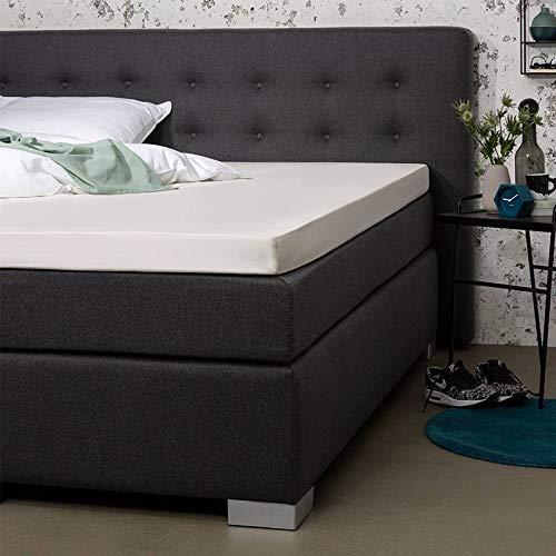 Topper Hoeslaken - Creme - 180x210 cm - Percal Katoen - Presence - Voor Matrassen Tot 10 CM
