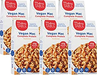Modern Table Southwest Vegan Mac & Cheese,  Complete Protein, 5.89 oz, 6 Count