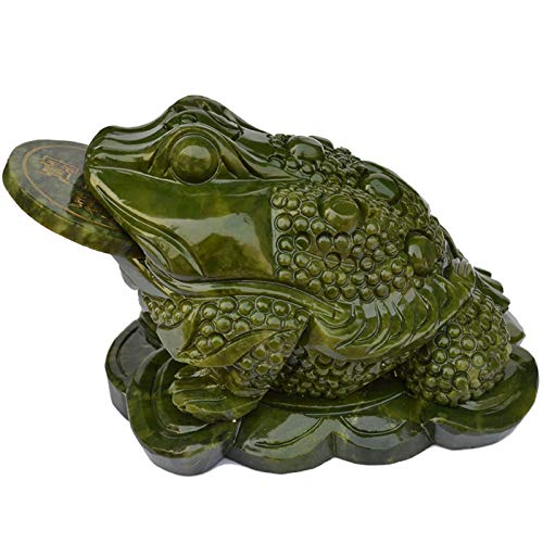 Feng Shui Fortune Coin Natural Jade Money Toad/ Frog...