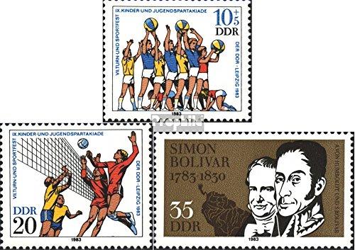 DDR mer.-no.: 2814-2815,2816 (complète.Edition.) 1983 Turn- et Sportive, Bolivar (Timbres pour Les collectionneurs) Autres Sports