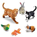 Learning Resources Jumbo Domestic Pets, Cat, Dog, Rabbit, Guinea Pig, Fish and Bird, 6 Animals, Ages 2+ (LER0688),Multi-color,3-3/4 - 7-1/2 W in