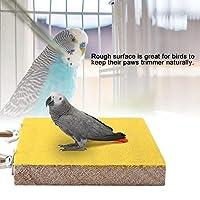 オウムスタンド玩具、オウムパーチ、ペットパーチスタンド、バードパーチ、オウムスタンド、鳥かごペット用品用ペット鳥用(Yellow long-side screws)