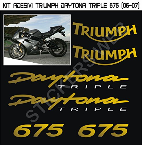 Pimastickerslab Aufkleber Stickers Triumph Daytona 675 06-07 -Moto grau Version- -Motorrad- Cod. 0615 (ORO cod. 091)
