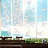 20 Pezzi Adesivi Anticollisione di Grandi Dimensioni Adesivi per Finestre di Uccelli Prevenire i Colpi di Uccelli su Porte Finestre Vetro Adesivi da Finestre Traslucidi/ Spolverati Adesivi per Uccelli