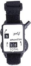 LBgrandspec Portable Mini Wristband Golf Stroke Score Counter Keeper Watch Putt Shot Scorer Lu Ya Bait Set Minor Mixed- Black + White