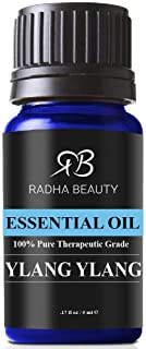 Radha Beauty Ylang Ylang Essential Oil, 5mL - 100% Natural Therapeutic Grade for Aromatherapy, Relaxation, Fatigue, Stres...
