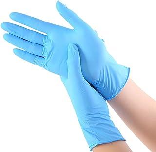 comprar comparacion WEALTHGIRL Guantes de nitrilo transparente Guantes libres de látex sin polvo Limpieza Guantes sanitarios para la cocina Co...