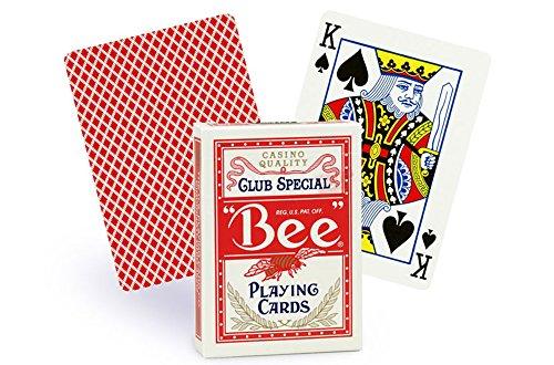 Bee n ° 92 l'Index Jeu de cartes à jouer 1 dos de (Rouge)