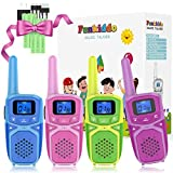 Walkie Talkies for Kids Adults Family Rechargeable Long Range Portable Two Way Radio with Batteries Charger, Outdoor Camping Hiking Family Activities Toys Birthday Party Xmas Gifts for Girls Boys