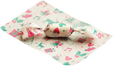 100 ورقة عيد الميلاد نوجات صنع اللوازم حلوى لف الشمع ورق الحلوى (الحب)