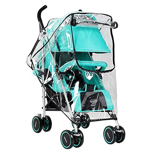 Vecksoy Funda universal para cochecito de bebé con Zi, material EVA flexible transparente, inodoro, para lluvia, viento y nieve, A: carros de paraguas, B: cochecito