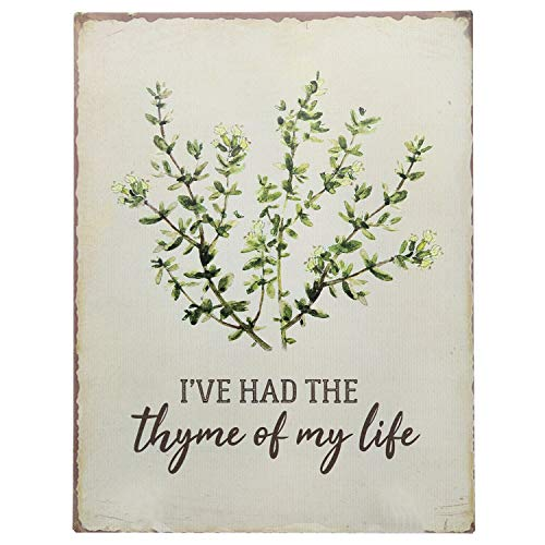 """Barnyard Designs I've Had The Thyme of My Life Funny Retro Vintage Tin Bar Sign Country Home Decor 13"""" x 10"""""""