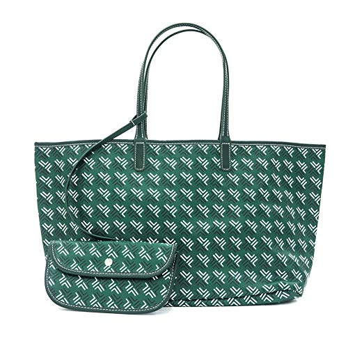 QUEENTOO Handtaschen und Handtaschen für Frauen Shopper Canvas Schultertaschen auf Abstand, Grn (grün), Large