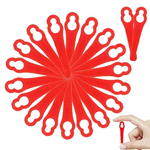 WELLXUNK® Kunststoff Ersatzmesser, 80 Stück Messer für Rasentrimmer, Kunststoffmesser für Rasentrimmer, Rasentrimmer-Klingen, Rasenmäherklinge für Frt18A Frt18A1 Kunst 46155 Frt20A1