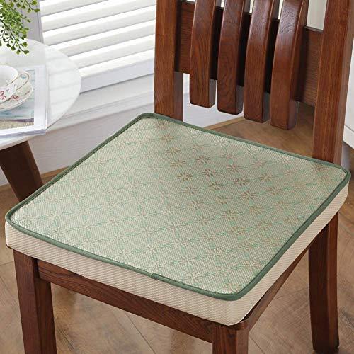 DPPD Quadratisches Sitzkissen, Eisseide rutschfeste Bequeme weiche Stuhlpolster für Büro-Esszimmerstuhl Autositz Rollstuhl-d 40x40cm