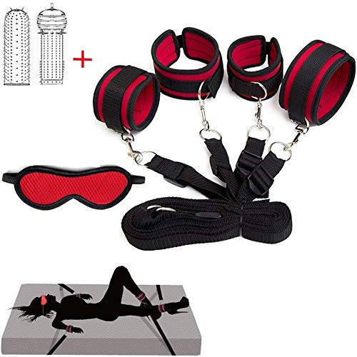 Buy POPBBIE Soft Women's Bed Tied up Straps,Neoprene Padded Gym Set,Red