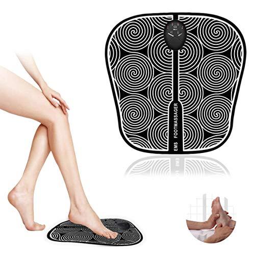 EMS Massaggiatore per Piedi,Massaggiatore Portatile, Elettrico massaggiatore Plantare Macchina, 6 Modalità,Stimolatore Muscolare con 1-10 Livelli di Intensità