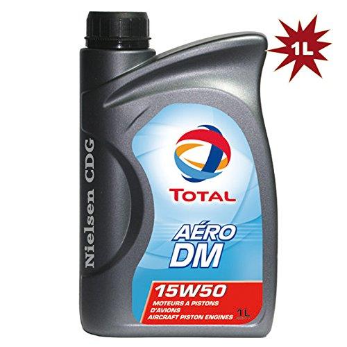 Total Aero DM 15 W50 – Aircraft Huile pour moteurs à piston – 1 litre