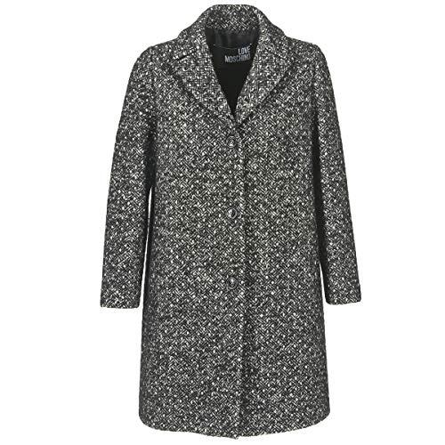 Love Moschino Mansoi Mäntel Damen Grau - DE 38 (IT 44) - Mäntel Outerwear