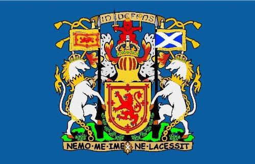Michael & Rene Pflüger Barmstedt - 8,4x5,4 cm - Premium Autoaufkleber Fahne/Flagge von Schottland StickerAuto Motorrad Bike