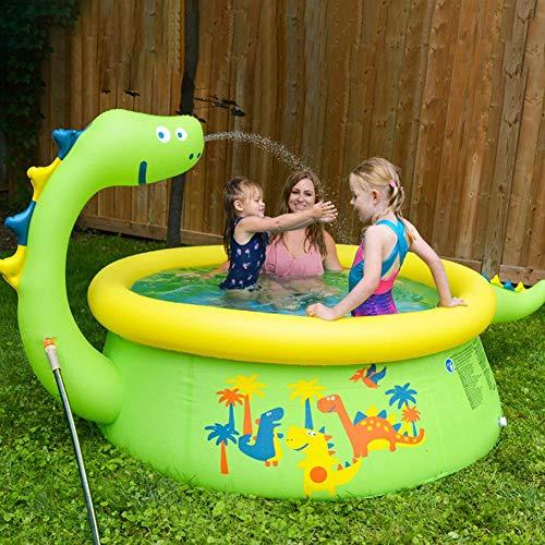 Sprinkler Voor Kinderen, Opblaasbaar Zwembad Waternevel Om Te Leren - Sprinklerbad Voor Kinderen, Buitenzwembad Voor Baby's En Peuters Dik Opblaasbaar Zwembad Opblaasbaar Zwembad Voor Jongens Meisjes
