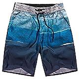 Pantalones Cortos Hombre Verano 2019 Nuevo SHOBDW Tallas Grandes Pantalones de Playa Elástico Cordón Pantalones Hombre Deporte Bolsillos Transpirable Bañador Hombre Corto(Azul,L)