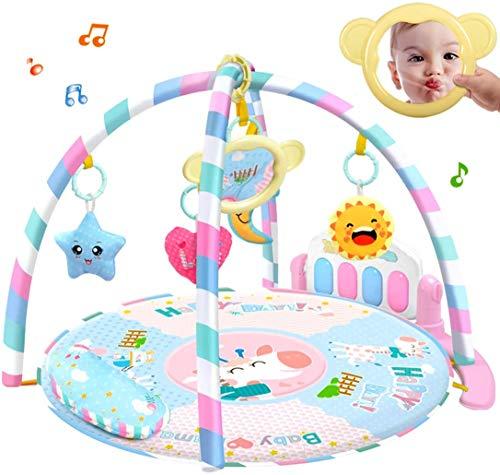 Manta de juego para bebés Alfombra de juego con música Patada de piano de gimnasio para bebés recién nacidos,Pink