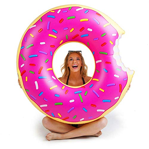 DASGF flotador para adultos, donut para adultos, nadar en círculo, hinchable, piscina, hinchable, para adultos y niños