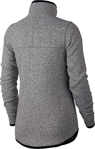 Nike Damen Sportswear Hoodie Fz Ssnl Kapuzenpullover, Dk Grey Heather/Black, XS