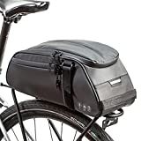 ZIMFANQI Bike Rear Bag Reflective,Water Resistant Bicycle Pannier Rack Bag Cargo Trunk Storage Cycling Carrier Chest Bag ,8L Capacity with Multi Pocket Taillight Loop,Shoulder Strap for Outdoor